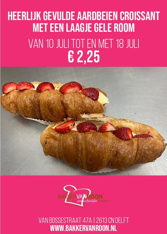 Aardbeien croissant