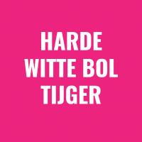 harde witte bol tijger