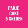 Pakje met 5 cake sneden