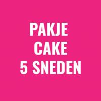 pakje cake 5 sneden