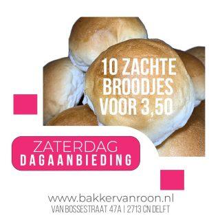 Dagaanbieding van de zaterdag! ⠀⠀⠀⠀⠀⠀⠀⠀⠀ ⠀⠀⠀⠀⠀⠀⠀⠀⠀ #komtvoordebakker #bakker #bakkervanroon #bakkerij #brood #broodbakken #patisserie #bakken #delft #gebak #contacloosbrood #samenwerking #ambachtelijk #weetwatjekoopt #versbrood #samensterk #winkel #online