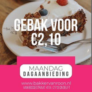 DAGAANBIEDING VOOR DE MAANDAG  #komtvoordebakker #bakker #bakkervanroon #bakkerij #brood #broodbakken #patisserie #bakken #delft #gebak #contactloosbrood #samenwerking #ambachtelijk #weetwatjekoopt #versbrood #samensterk #winkel #online