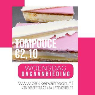 DAGAANBIEDING - Fijne woensdag!! #komtvoordebakker #bakker #bakkervanroon #bakkerij #brood #broodbakken #patisserie #bakken #delft #gebak #contactloosbrood #samenwerking #ambachtelijk #weetwatjekoopt #versbrood #samensterk #winkel #online